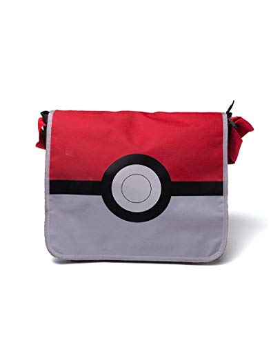 DIFUZED Sac Bandoulière Pokémon - Pokeball Bolso Bandolera, 45 cm, Rojo (Rouge Et Blanc)