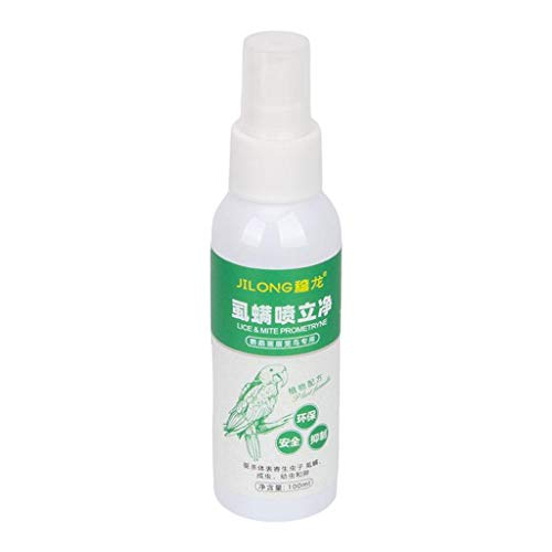 Fenteer Bed Bug, Ant, Flea & Cockroach Spray for Birds | All Natural, Non-Toxic, Child & Pet Friendly, Effective, Fast Acting, 100ML