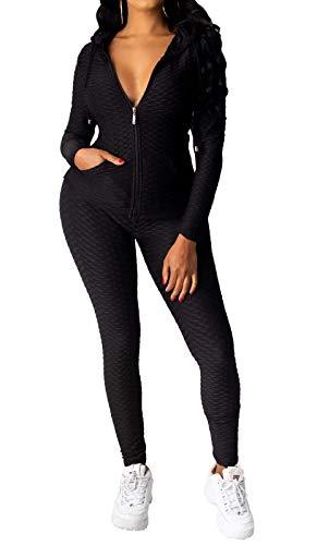 YiYLunneo Women One-Piece SnowsuitSki Jumpsuit Warm Thick Snowboard Skisuit Outdoor Sports Zipper Ski Suit Black