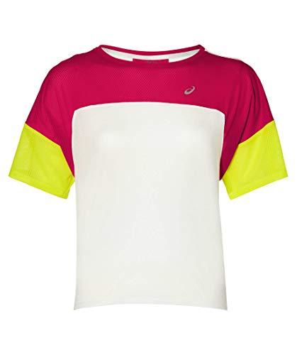 ASICS Style Laufshirt Damen pink/Neongelb, M (40 EU)