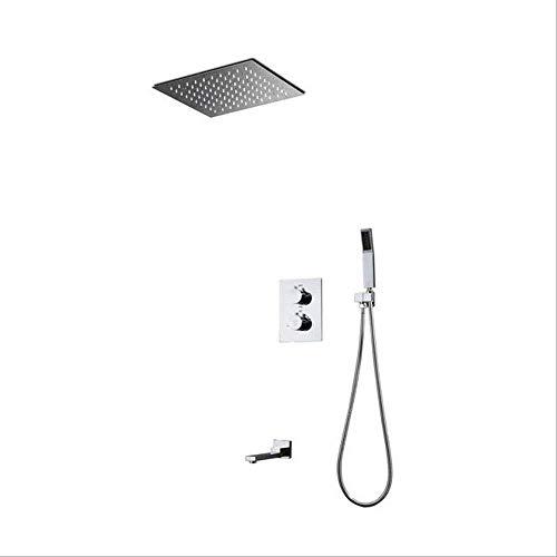CESULIS Kits de ducha, cabezal de ducha oculto, ducha de lluvia LED, ducha de pared empotrada ducha conjunto de agua caída