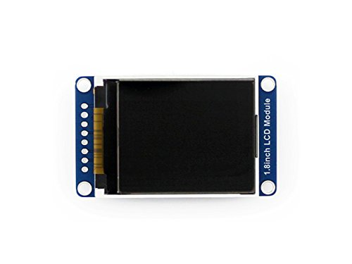 Waveshare 128x160 Pixels 1.8inch LCD Display Module with Embedded Controller, Communicating Via SPI Interface