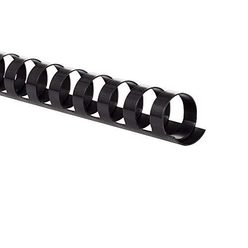 GBC Binding Spines/Spirals/Coils, 3/4' Diameter, 150 Sheet Capacity, CombBind, Black, 100 Pack (4000104)