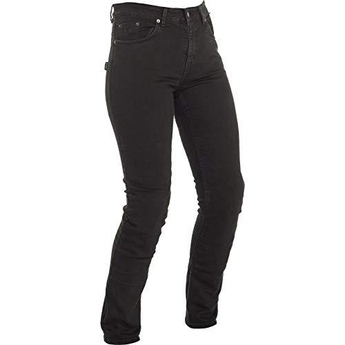 7NJSL100-36 - Richa Nora Slim Fit Black Ladies Motorcycle Jeans 18