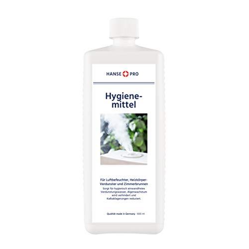 Hansepro Hygienemittel, 1 x 1000 ml - Konservierungs-Mittel für Luftbefeuchter, Luftreiniger, Luftwäscher, Heizkörper-Verdunster, Zimmerbrunnen - hält Verdunstwasser hygienisch einwandfrei