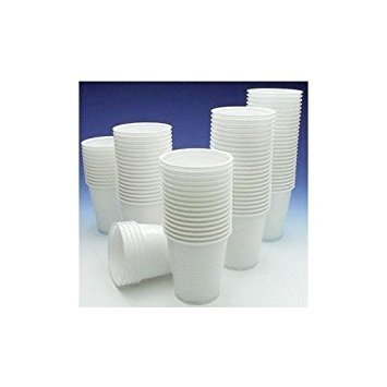 Caroline Packaging 100 Plastic White Drinking Cups - For All Occasions