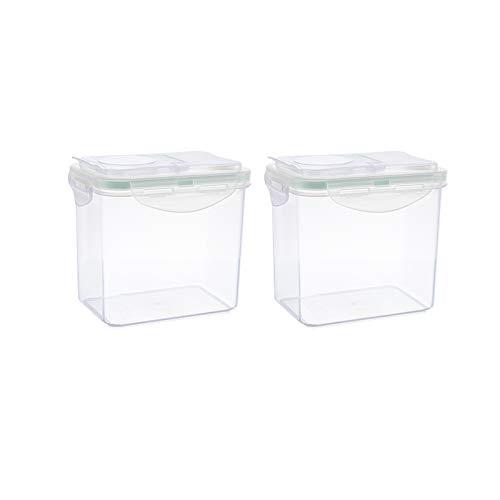 HARVESTFLY Vorratsdosen Schüttdosen Set mit Klappdeckeln, 2-teilig, 1 Liter,100{af4ddf40db68f1c7532b2ced6e6abe7f3e3fa3ebffee50af47059c14a01236ca} recyclebar, ideale Gr??e z.B. als Müslispender, für Cornflakes oder Vorratsbeh?lter
