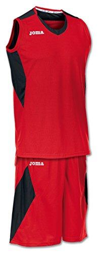 Joma Set Space Basketball Trikot-Set rot-schwarz rot/schwarz, XXL