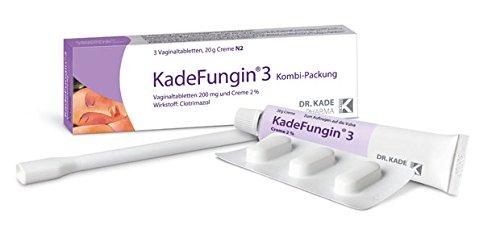 KadeFungin Sparset 2x 3 -Packung Vaginaltabletten mit 20 gr.Creme