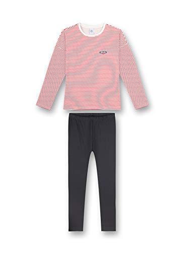 Sanetta Mädchen Schlafanzug Karmin Pyjamaunterteil, rot, 140