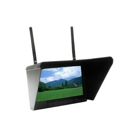 """FlySight 7 Ch Black Pearl 5.8Ghz 7"""" Diversity Monitor with I"""