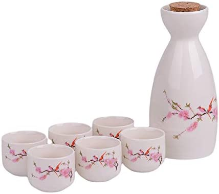 Cheap DOMALA White Sales for sale ceramic sake bottle and - 6 cups Japane Traditional