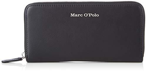 Marc O'Polo Damen Emilie Geldbörse, Schwarz (Black), 2.5x10x19.2 cm