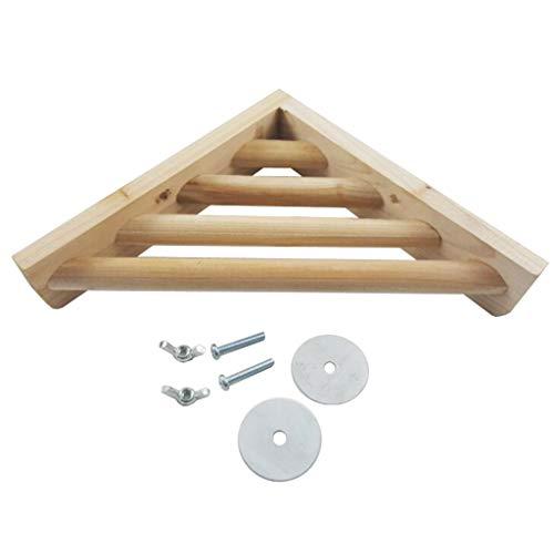 KJ-KUIJHFF Étagère d'angle en bois pour cage à oiseaux, pinsons, hamster, terrain de jeu, jouet d'exercice