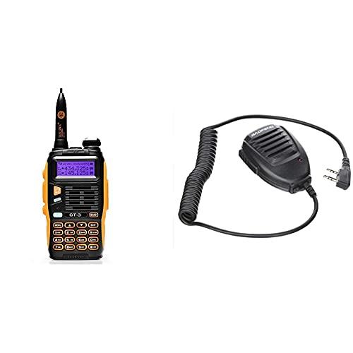 BaoFeng GT-3 Two-Way radios Walkie-Talkie + Original de Mano UV-5R Altavoz-microfono para Radio de Banda Dual