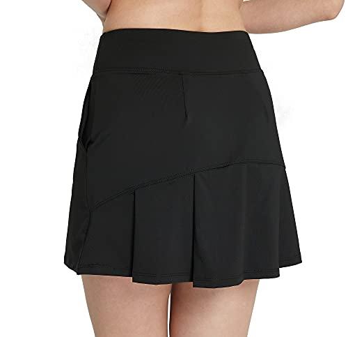 Westkun Falda Plisada De Tenis con CordóN EláStico Mujer Skort De Golf(Negro,XL)