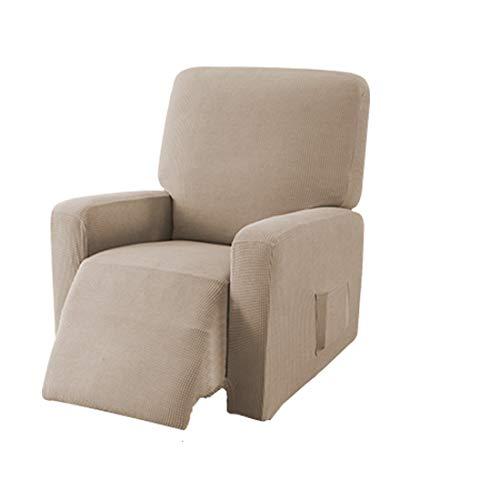 E EBETA Jacquard Sesselbezug, Sesselschoner, Stretchhusse für Relaxsessel Komplett, Elastisch Bezug für Fernsehsessel Liege Sessel (Sand)