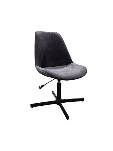 CEDEN Chair bureaustoel, Venus, Velours, polyester, grijs, 54 x 48 x 79 cm