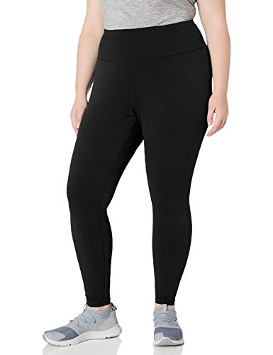 Amazon Essentials Plus Size Performance High-Rise Full-Length Athletic-Leggings, schwarz, 1X