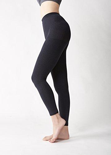 Door de cervin datum glad maken alleen de maatregelen comfortabele leggings zwart LL