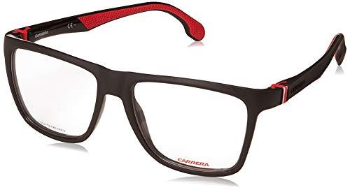 Carrera Men's CA5549/V Rectangular Prescription Eyeglass Frames, Black/Red, 56 mm