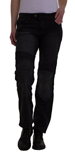 Qaswa Damen Motorradhose Jeans Motorrad Hose Motorradrüstung Schutzauskleidung Motorcycle Biker Pants
