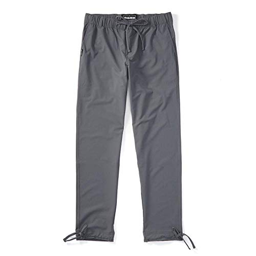 Trailhead Adventure Pant - Durable, Lightweight, Waterproof, Packable for Outdoors, Travel, Climbing, Hiking (Large (Slim-fit), Gray)