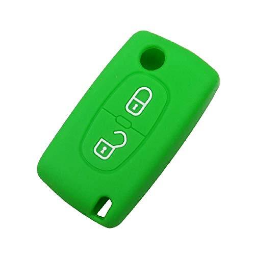 TGBV2 Botones Mando a Distancia para Llave de Coche para Peugeot 206, 207, 307, 308, 207, 407, 408 para Citroen C2 C3 C4 C5 C6, Carcasa de Llave Plegable con Tapa