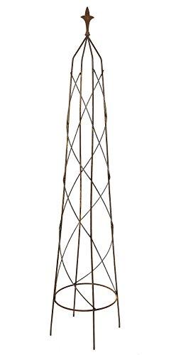Ruddings Wood 167cm Natural Rust Metal Orton Garden Obelisk Climbing Rose Plant Support Rusted Frame