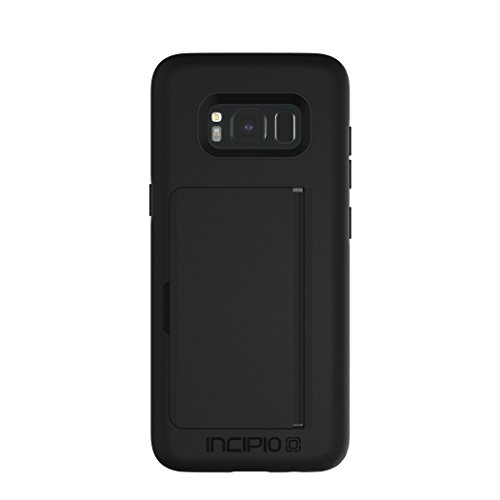 Incipio Technologies Samsung Galaxy S8 Stowaway Credit Card Hard Shell Case with Silicone Core - Black