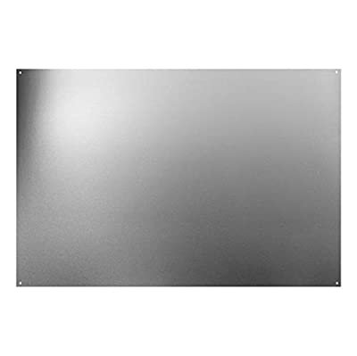 "Broan Backsplash Range Hood Wall Shield for Kitchen, Reversible Stainless Steel, 24"" x 30"""