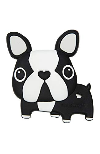 Loulou LOLLIPOP Boston Terrier Soft Silicone Teether - Premium Baby Teether Toy