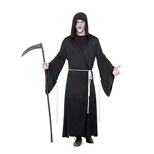 Smiffys Costume La Morte, Nera, comprende Veste con Cappuccio e Cinta di Corda