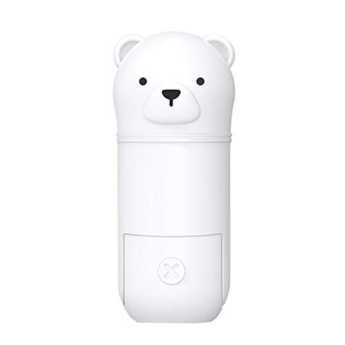Heizung Ventilador portátil de Mano USB USB Plegable y Recargable Escritorio Silent Humidificador Lindo en Forma de Oso 2 en 1 Mini Fan para Oficina y al Aire Libre (Color : White)