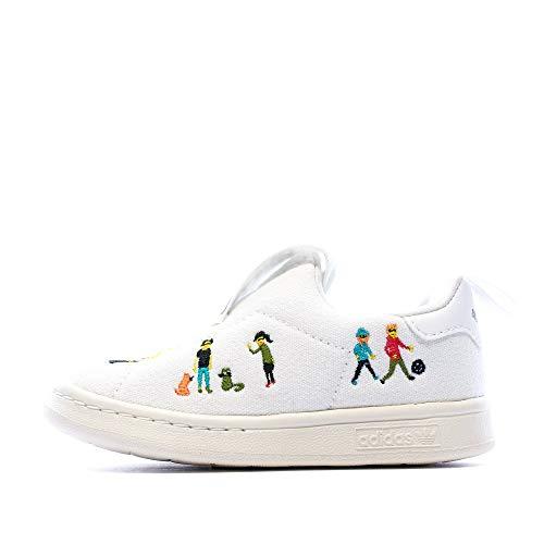 adidas Originals Stan Smith 360 - Zapatillas de deporte para niño (talla 4), color blanco