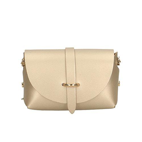 Aren - Shoulder Bag Borsetta a Tracolla da Donna in Vera Pelle Made in italy - 18x11x9 Cm