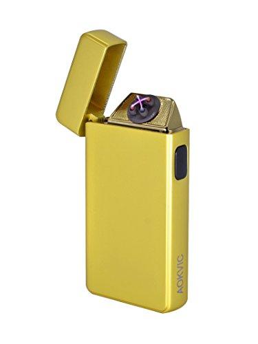 Aokvic Aokvic Neues USB elektronisches Feuerzeug aufladbar lichtbogen (Gold) Gold