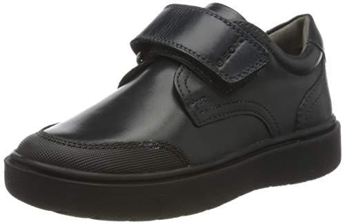 Geox J Riddock Boy, Zapato Uniforme Escolar Niños