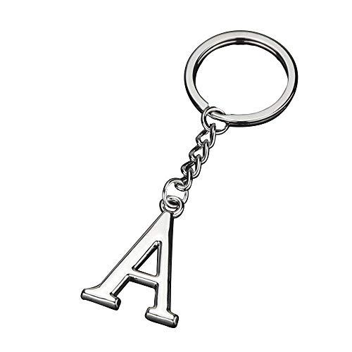 イニシャル ( A ) アルファベット キーリング メタリック キーホルダー チェーン ロゴ チャーム ギフト メンズ レディース