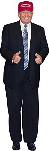 aahs!! Engraving Donald Trump Stand Up | Cardboard Cutout | 6 feet Life Size Standee Picture Poster Photo Print of President | Thumb Up