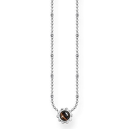 Thomas Sabo Damen-Kette Ethno Braun 925 Sterling Silber geschwärzt Braun KE1669-826-2-L45v