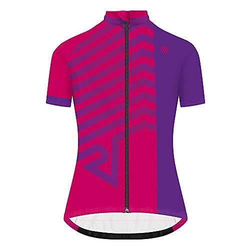 Proviz Classic Womens Hi Viz Reflective Short Sleeve Tour Cycling Jersey Hi Visibility 14 Purple Arrow