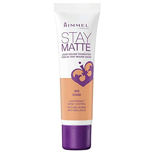 Rimmel Base de maquillaje Stay Matte n.º 300, color arena