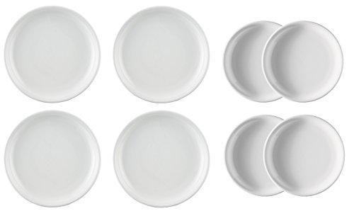 Thomas Trend Weiss 4X Speiseteller Ø26cm und 4X Frühstücksteller Ø20cm