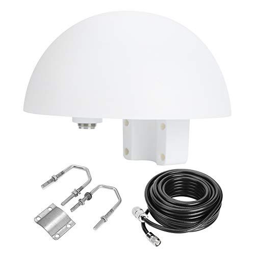 Antena satelital KIMISS, antena satelital marina ISA190 antena de mástil fijo para automóvil 5 m/16,4 pies para Iridium 9500 9505 9505A 9555 9575