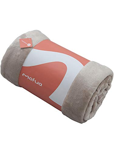 mofua(モフア)毛布 プレミアムマイクロファイバー Heatwarm発熱 +2℃ タイプ 1年間品質保証 シングル グレージュ 601001N8