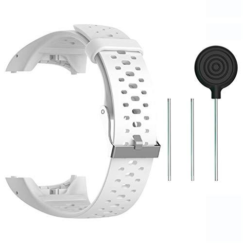 Accesorio Reemplazo de Liberación Rápida Banda de Reloj de Silicona Suave Pulsera de Correa Deportiva para M400   M430 GPS Reloj smartwatch (blanco)