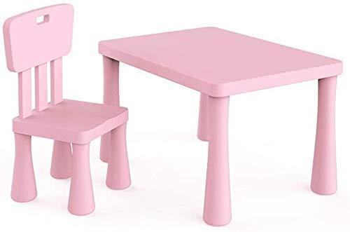 Lsmaa Tische Schreibtisch Stühle Set Möbel for Kinder Kinder Jungen Mädchen Study Garden Nursery (Farbe: T2) (Color : T4)