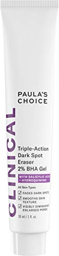 Paula's Choice CLINICAL Triple-Action Dark Spot Eraser 2% BHA Gel, Salicylic Acid & Hydroquinone, Hyperpigmentation & Skin Lightening, 1 Ounce