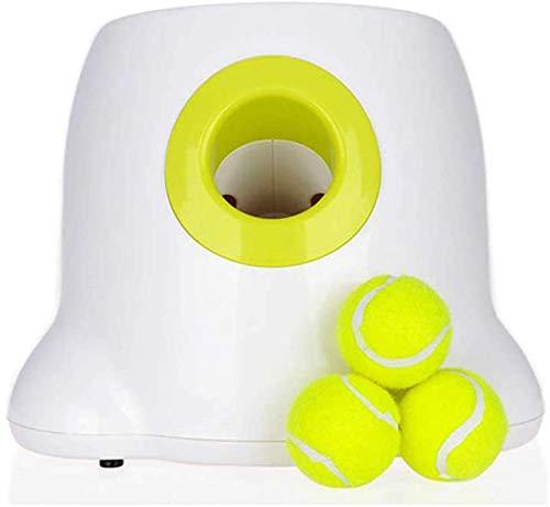 Yanyu Hund Ball Werfer Werfer Automatische Hundespielzeug Interactive Dog Timing-Tennisball Launcher Wurfmaschine für Training und Spiel 3 Bälle inklusive